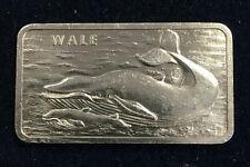 Heraeus - 1 Unze Silber Motivbarren - Wale - 999/- Feinsilber