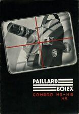 Paillard Bolex - H8+H16+H9 - Film Camera - Instruction Manual - PDF File