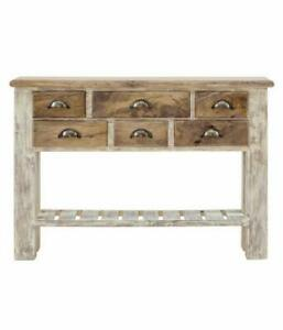 Handicraft Wood Console Table with 5 Drawers for Home Office Furniture