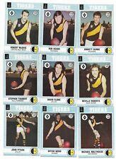 1977 Scanlens RICHMOND Team Set (10 Cards) Near Mint