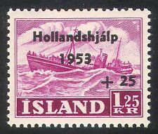 Iceland 1953 Trawler/Fishing/Boats/Transport/Welfare/Flood Relief Fund 1v n41663
