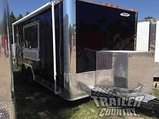 New 85 X 18 18 Enclosed Concession Food Vending Bbq Mobile Kitchen Trailer