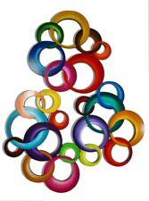 Colorful Circle wall art, circle wall sculpture, 3pc Circle Wall decor - Art69
