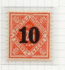 Wurttemberg 1923 December Early Issue Fine Mint Hinged 10pf. Surcharged 291081
