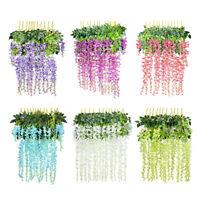 Artificial Silk Wisteria Fake Garden Hanging Flower Plant Vine Wedding Décor