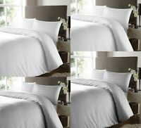 400TC DUVET COVER WHITE BEDDING SET 100% EGYPTIAN COTTON DOUBLE SUPER KING SIZE