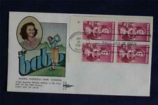 Babe Zaharias 18c Stamp FDC Gill Craft Cachets Sc#1932 Plate Block #4 03402