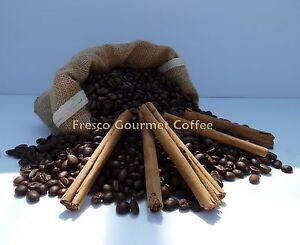 Cinnamon Flavoured Decaffeinated Coffee Beans 100% Arabica Bean or Ground Coffee