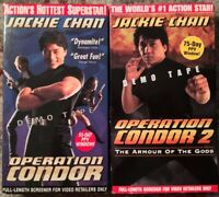Operation Condor 1 & 2: The Armour Of The Gods Screener VHS Lot Of 2 Jackie Chan