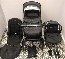 🖤Silver Cross Wayfarer Travel System Onyx Black Pushchair Pram Car Seat 3 In 1