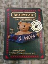 Boyds Bears And Friends Bearwear Pin, Munchkin's, Love You Mom. 2000.