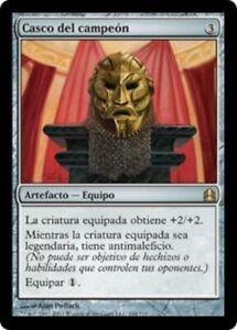 1X Champion's Helm Commander 2011 Spanish NM/EX MTG CARD
