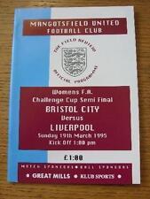 Away Teams A-B Bristol City FA Cup Final Football Programmes