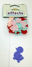 16 Mixed Colour Material EASTER Chicks Embellishments for crafting