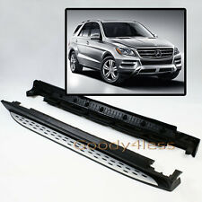 W166 12+ Benz ML350 ML-Class Aluminum Running Boards Pair Set Side Step OE Style