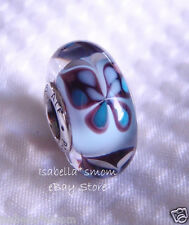 BLUE BUTTERFLY KISSES Authentic PANDORA Silver/MURANO Glas Charm-Bead SPRING New