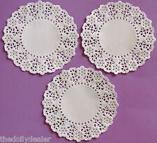 "100 X CREATE AND CRAFT 14CM = 5.5"" DAISY CHAIN PAPER LACE DOILIES  AS SEEN ON TV"