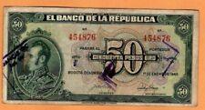 COLOMBIA   50 PESOS 1945  p393a