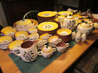 STANGL Pottery BLUEBERRY China Set Svc for 12+ More Yellow/Blue 95 Pc Lot