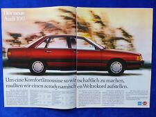 Audi 100 C3 - Werbeanzeige Reklame Advertisement 1982 __ (348