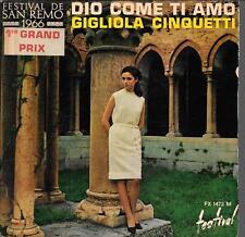 EP 4 TITRES--GIGLIOLA CINQUETTI--DIO COME TI AMO / MILLE ANNI
