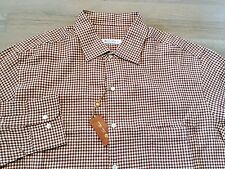 485$ Loro Piana Brown Long Sleeve Flannel Cotton Shirt Size XXL Made in Italy