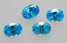 Cubic Zirconia Oval Cut Blue Topaz Colour 7 x 5mm Excellent Quality Pack of 4