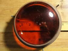 VINTAGE LIGHT COVER, RED GLASS, RED LENS, FOR WAR TIME, MILITARY ITEM CLIP ON
