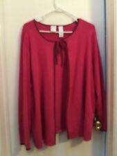 Beautiful Emma James Woman, ladies Sweater, Fuschia, w/Navy trim...NWOT