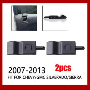 2 Pack Fits For Chevy/GMC Silverado/Sierra 07-13 Door Lock Knob Front/Rear Ebony