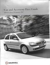 Molto esauriente VAUXHALL auto e accessori BROCHURE DI VENDITA GENNAIO 2002