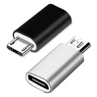 2 Pcs USB-C Type C Female to Micro USB Male Data Adapter Converter Connector New