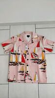 Noah NYC Harbour Military Shirt Pink Size Small