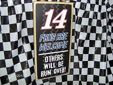 """# 14  Fans are Welcome/Others will be Run Over Wood 10"""" x 5 x .25"""" Sign"""