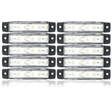 10x 24V 6 SMD LED Blanc Camion Remorque Indicateur Marqueur Latéral  Pour Camion