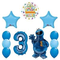 Sesame Street Cookie Monsters 3rd Birthday party supplies