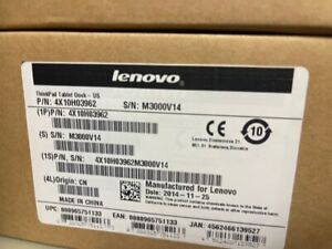 NEW Lenovo ThinkPad Docking Station With AC For Helix 2nd Gen - 4X10H03962