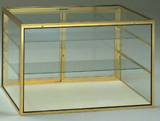 Large Made In Usa Countertop Glass Showcase With Carry Case Lock Knockdown New