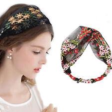 Fashion Elastic Embroidery Flower Headband Lace Hairband Women  Hair Accessories