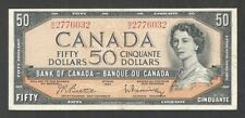 1954 $50.00 BC-42b VF BEAUTY Queen Elizabeth II Bank of Canada OLD Fifty Dollars