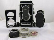 Mamiya C33 Pro Medium Format TLR Film Camera with 80mm/135 Lens/Extras Included