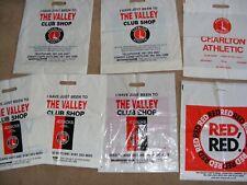 7 Charlton Athletic Football Club souvenir plastic  merchandise bags