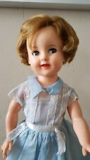 """19"""" 1950's Ideal Shirley Temple Doll ST-19 with flirty eyes, original dress"""