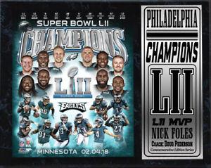 12x15 Stat Plaque - LII World Champion Philadelphia Eagles