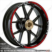 Trims Wheel Stickers Sport Honda VFR 750 800 1200 Red White