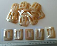 Vintage Mother of Pearl Buckle or Repurpose for Inlay  Cream 36 x 28 mm #25