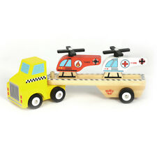 Wooden Helicopter Carrier With 2 Helicopters - Aged 2+ Imaginative Play