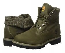 C/237* Timberland Mens Hiking Boots Green Roll Top Size UK 7