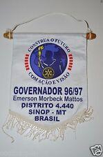 Sinop MT Brazil Governor Emerson Morbeck Mattos Rotary International Club Banner