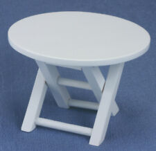 Dollhouse Miniatures 1:12 Scale Outdoor Table, White #CLA10430